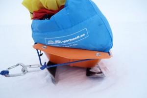 Broken ski runner
