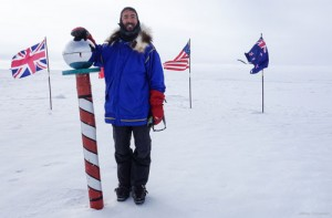 Aaron at the South Pole