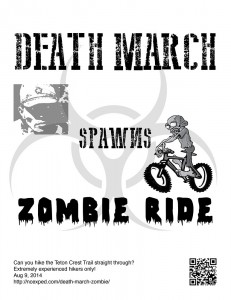 Death March Zombie flyer