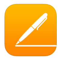 writing outdoors with iOS 8 pages